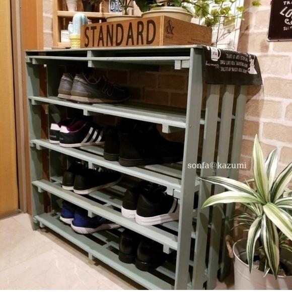 賃貸の靴箱DIY17