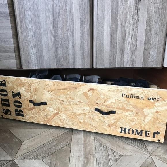 賃貸の靴箱DIY6