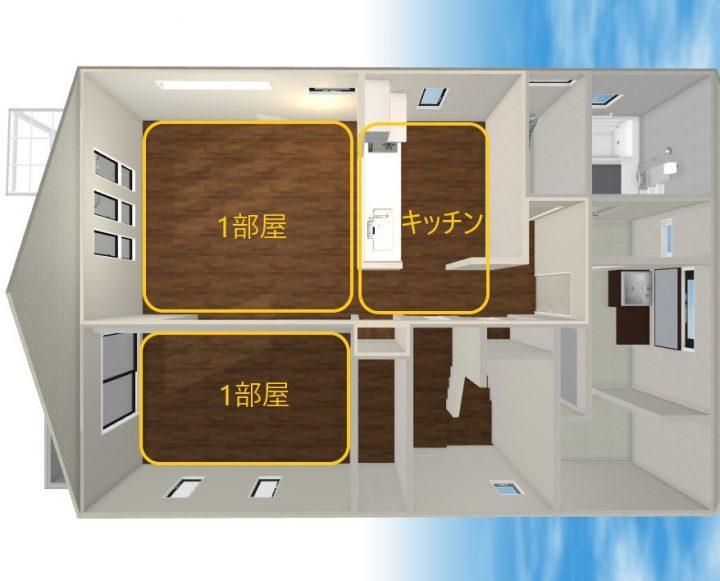 田の字型 家具 レイアウト