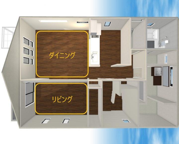 田の字型 家具 レイアウト4