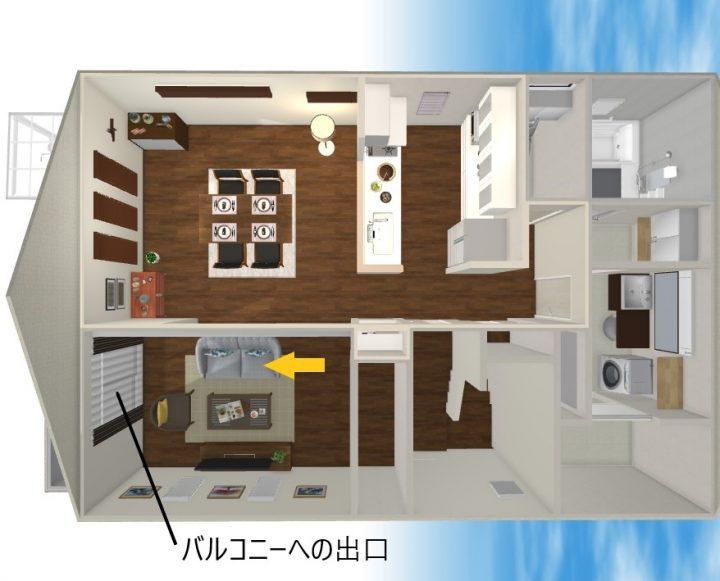 田の字型 家具 レイアウト5