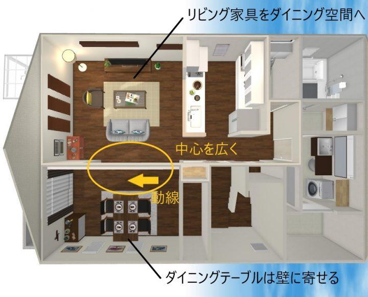 田の字型 家具 レイアウト6