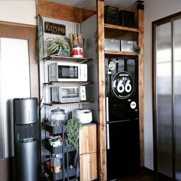 キッチンの棚DIY《家電収納》5