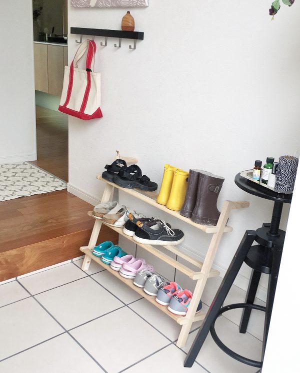 賃貸の靴箱DIY15