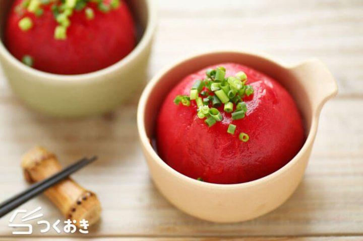 美味しい和食!トマトのだし漬け