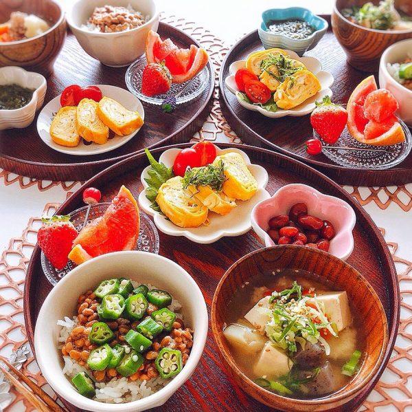 野菜たくさん朝食レシピ《ご飯・パン》2