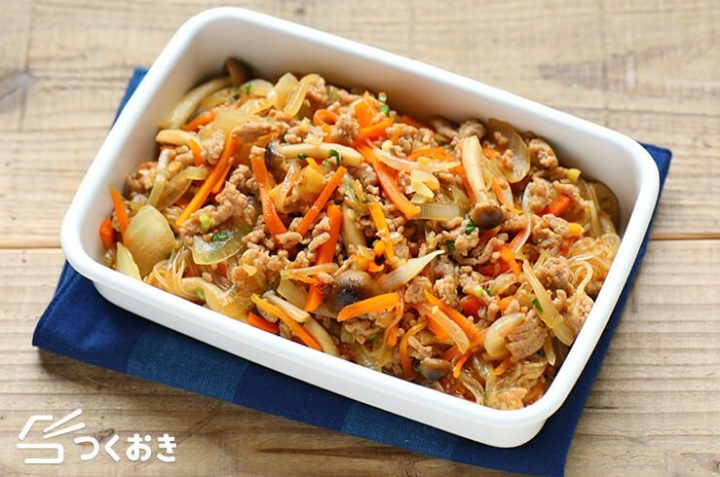 簡単なきのこの常備菜!和風チャプチェ
