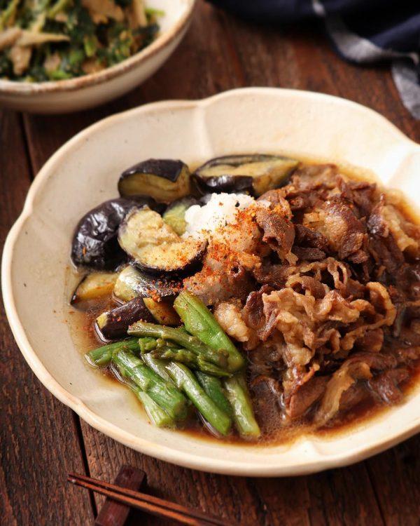 牛肉となすの中華風甘辛煮