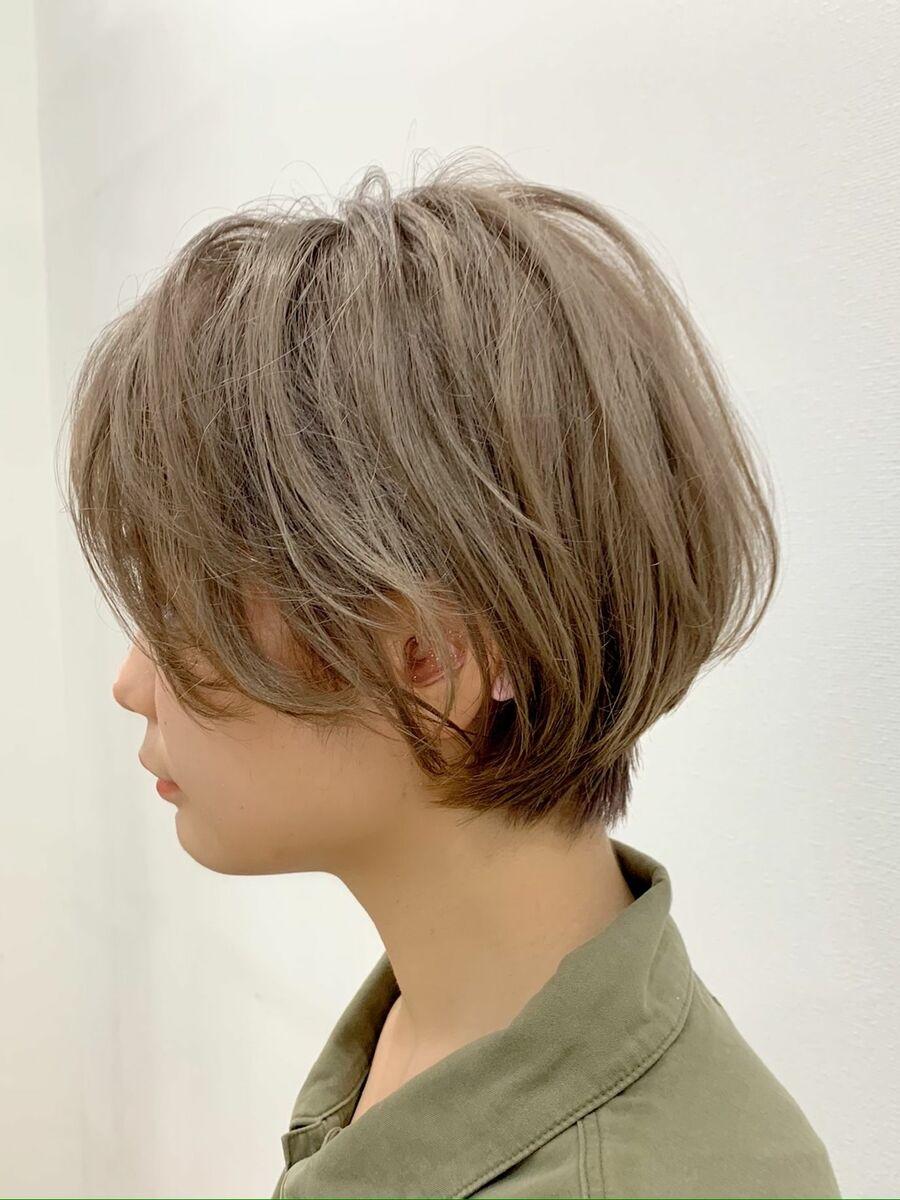 ミルクティーベージュの髪型【ショート・ショートボブ】5