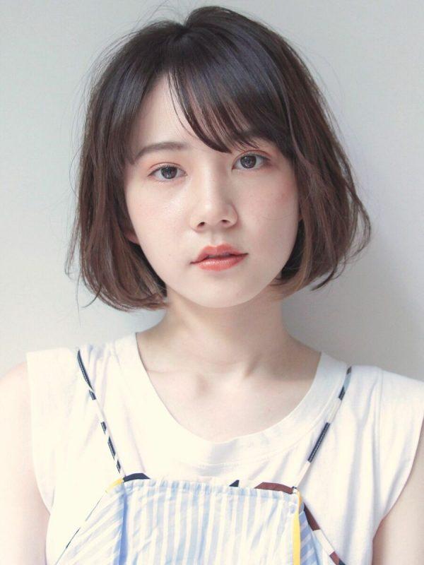 【前髪あり】バレイヤージュカラー×ボブ2