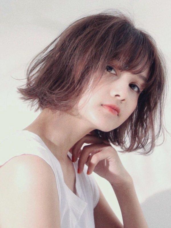 【前髪あり】バレイヤージュカラー×ボブ5