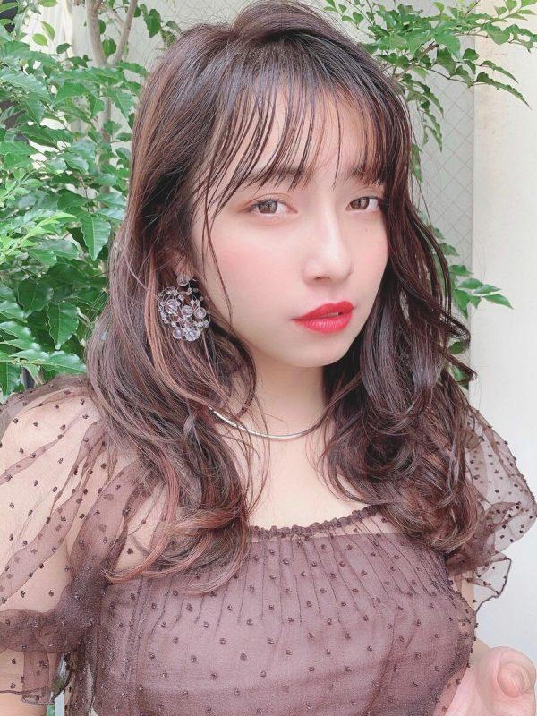韓国美女風のハイライト×ロング