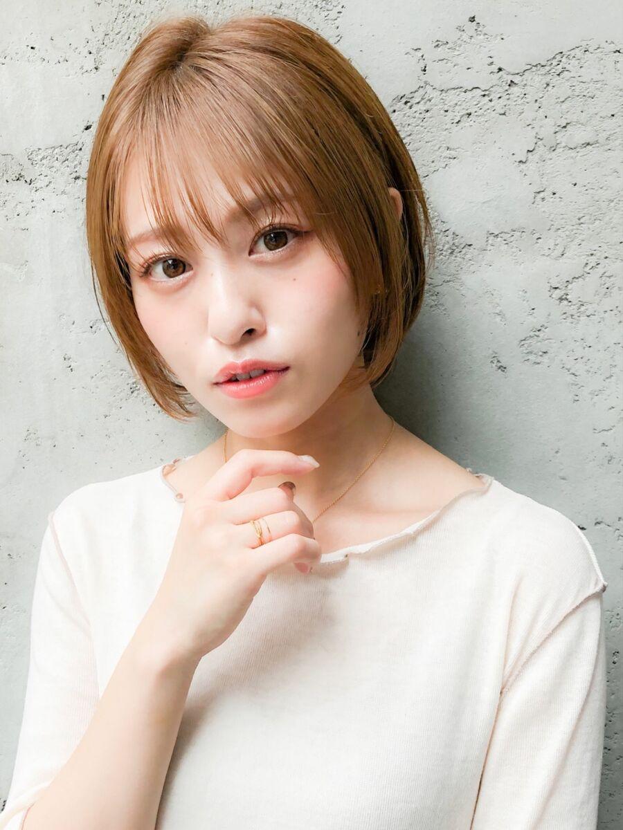 ミルクティーベージュの髪型【ショート・ショートボブ】