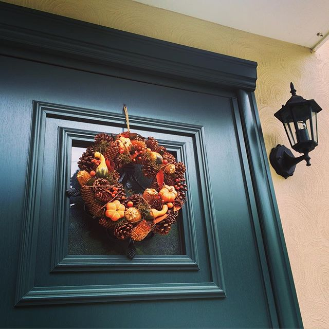 玄関のハロウィンパーティー飾り付け3