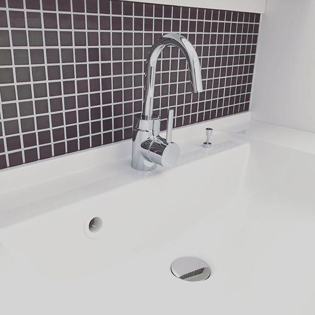 洗面所をタイルでセルフリノベーション