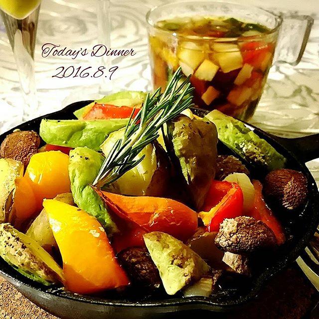 夕飯に!鶏肉と野菜のスキレットオーブン焼き