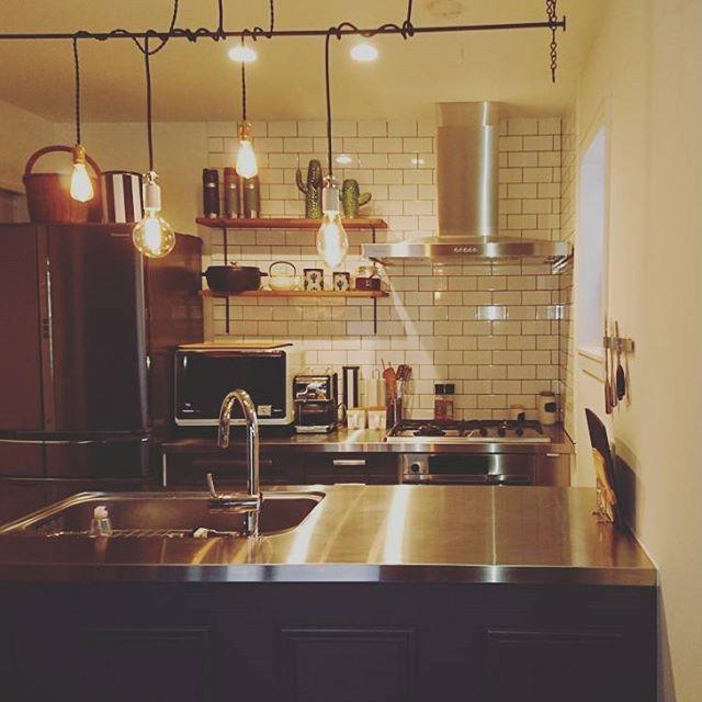 遊び心がある小さなキッチン照明