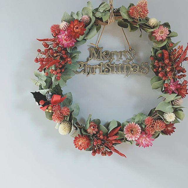 簡単手作りクリスマスリース【フラワー】