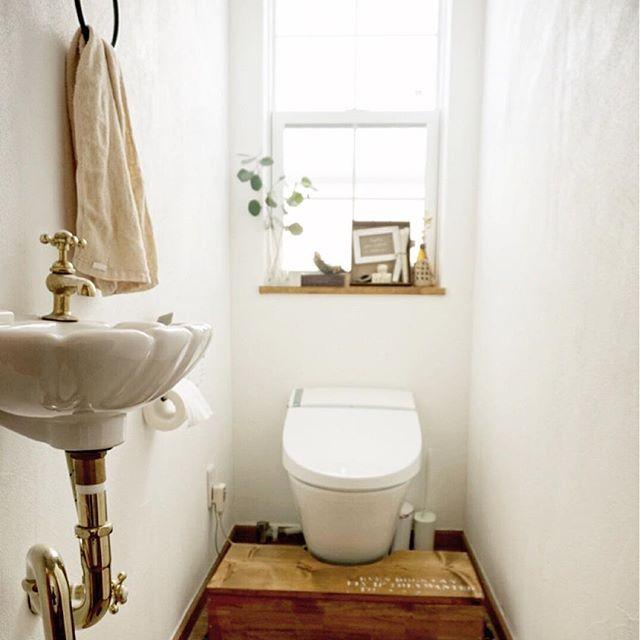 風水で南西と相性の良い色を使ったトイレ