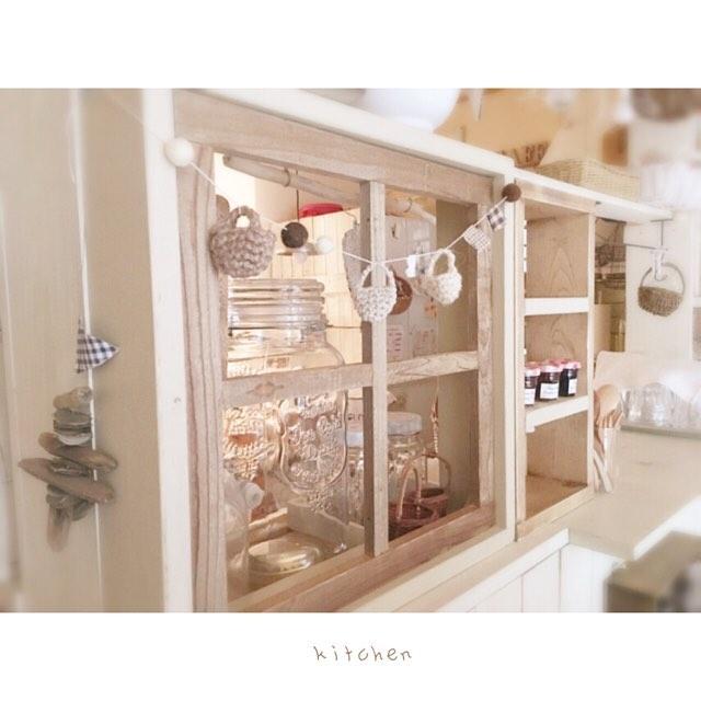 キッチンの目隠しアイデア14