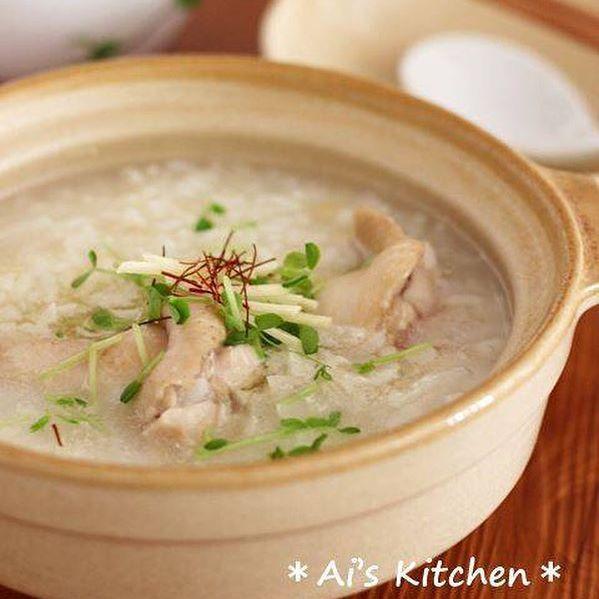 ダイエット中の節約レシピ!参鶏湯風雑炊