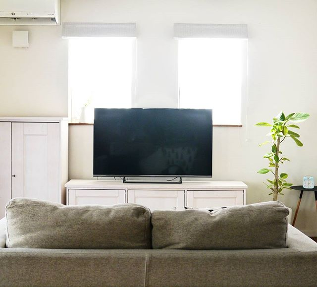 北のリビングはテレビ台の色と位置に注意!