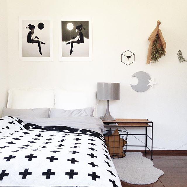 北欧テキスタイル活用例《ベッドルーム》