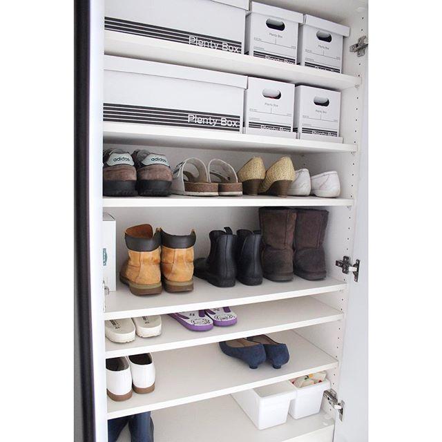 靴のサイズ別に収納