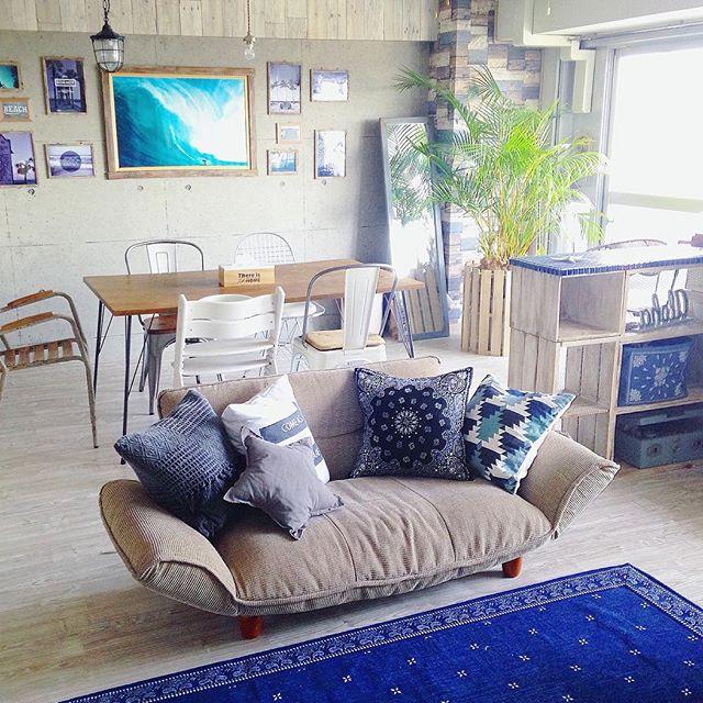 ブルーインテリアで作る女性の一人暮らし部屋
