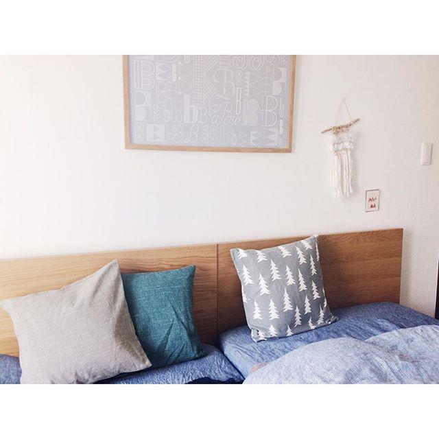 北欧テキスタイル活用例《ベッドルーム》2