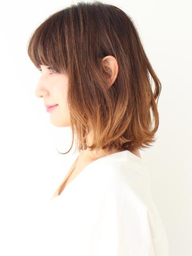 ミディアム×グラデーション【前髪あり】6
