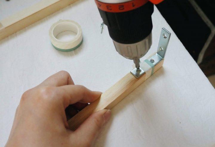 4.ラックの最上段の土台を作る