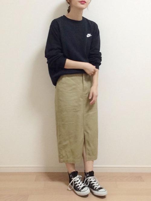 秋のおしゃれな運動会コーデ《スカート》2