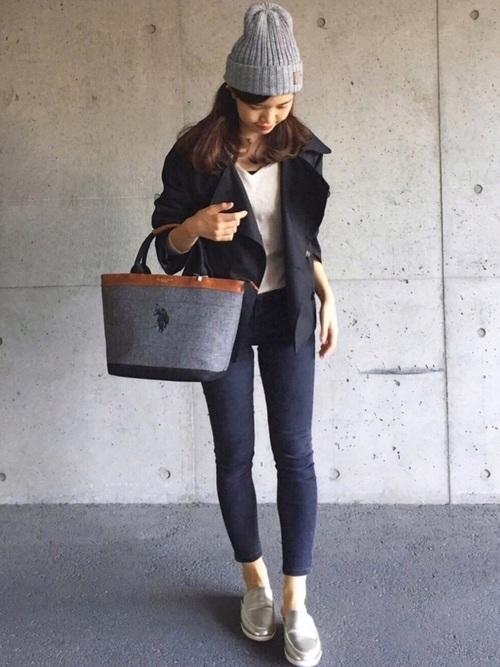 [14+(ICHIYON PLUS)] イタリア糸タグ付ニット帽 / knitcap