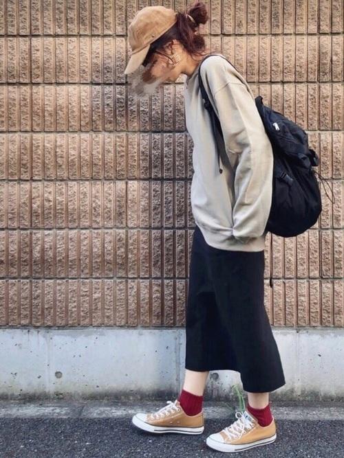秋のおしゃれな運動会コーデ《スカート》5