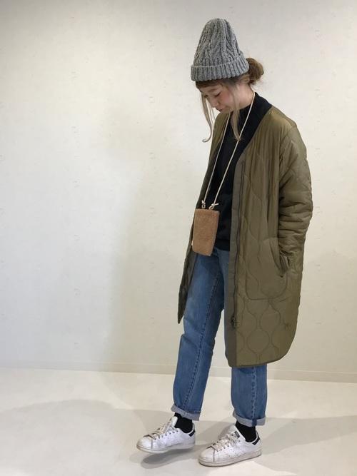 [14+(ICHIYON PLUS)] ケーブル編みモール糸ニット帽 / knitcap