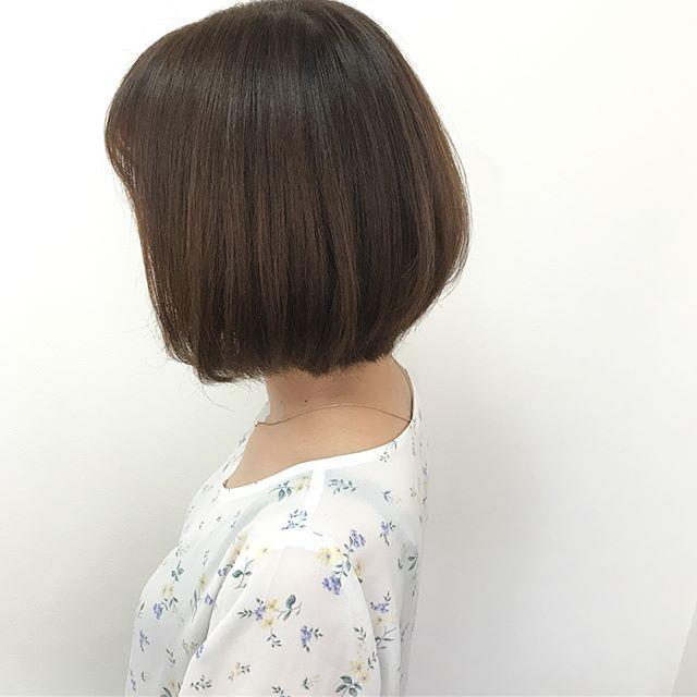 【前髪あり】バレイヤージュカラー×ボブ3
