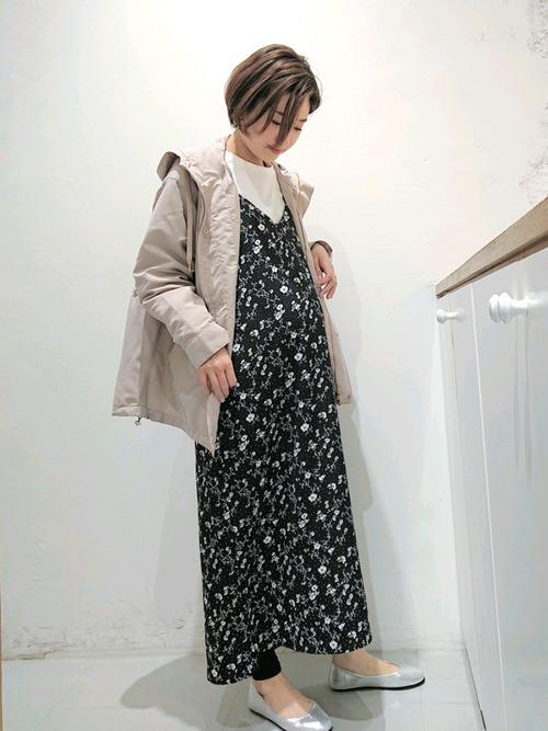 [LEPSIM] マタニティ/ムジガラキャミワンピース 864352