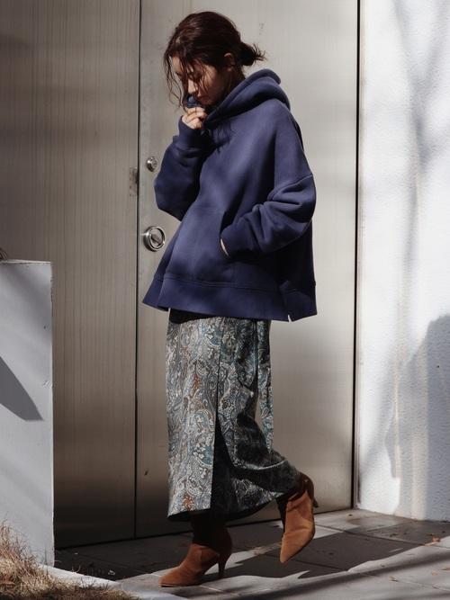 [Ungrid] ペイズリーラップスカート