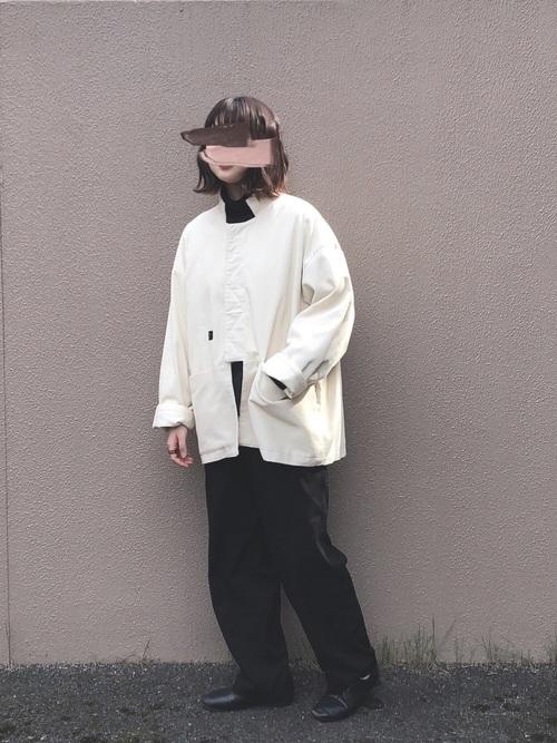 無印良品ドレスシューズ+ジャケットコーデ