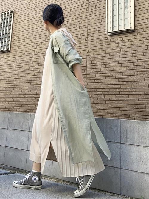 [LIPSTAR] 【S.Mサイズ有】シアーシャツワンピース