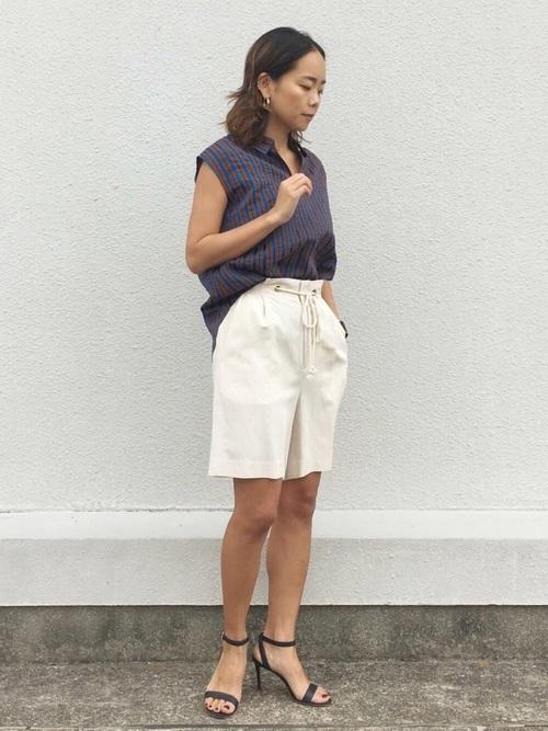 [Rose Tiara] リネンショートパンツ【セットアップ可】