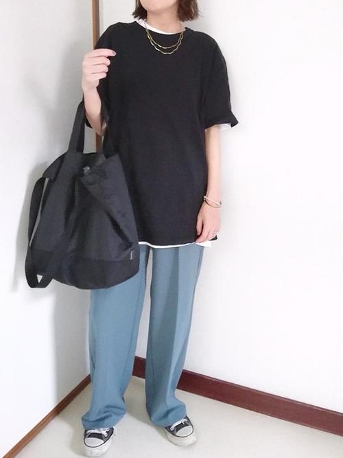 ユニクロ Tシャツ コーデ4