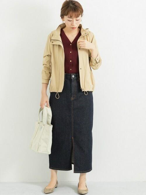 [URBAN RESEARCH] 【WEB限定】ロングタイトデニムスカート