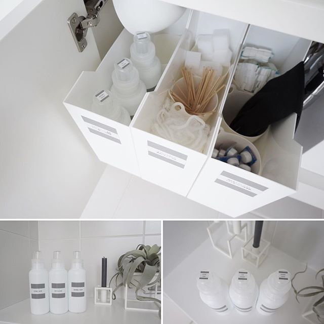 洗面所の収納棚《小物》4