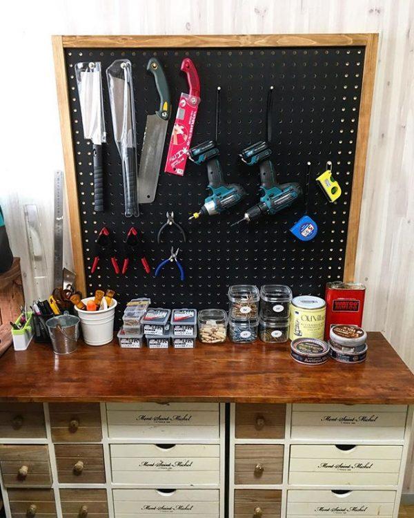 作業台周辺に工具を収納2