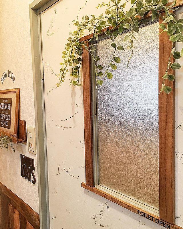 トイレの目隠し実践例|植物