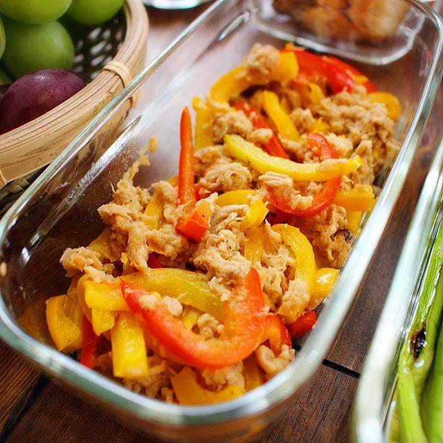 簡単早いお弁当!ツナとパプリカの時短サラダ