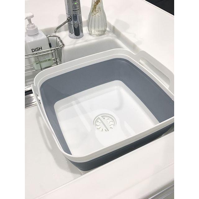 服の洗濯やつけおきには洗い桶が便利
