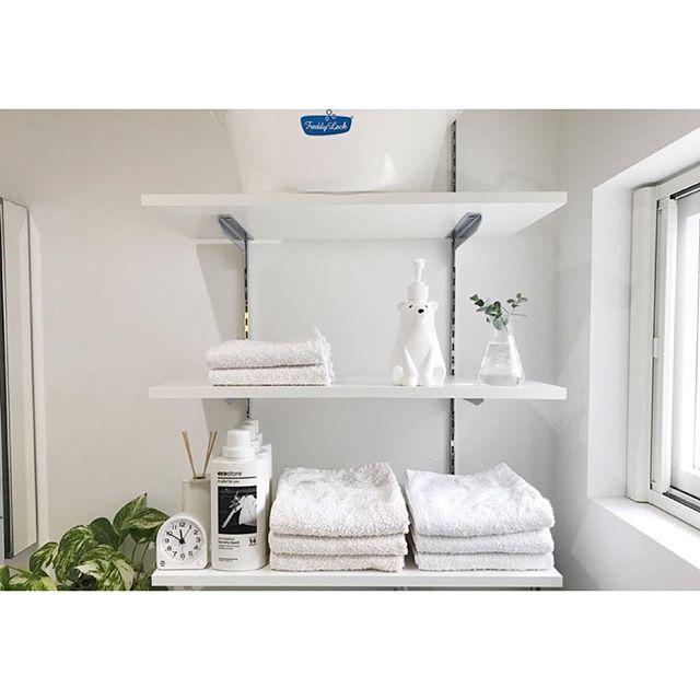 洗面所の収納棚《タオル》
